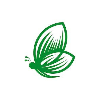 Ilustração em vetor modelo abstrato logotipo borboleta
