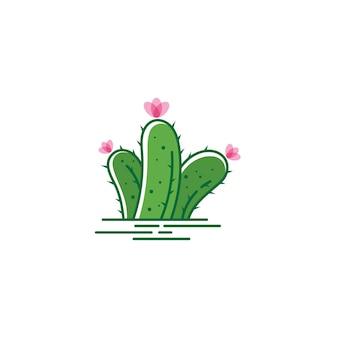 Ilustração em vetor modelo de design de ícone de cacto