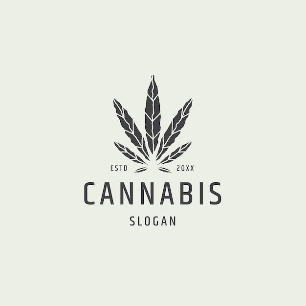Ilustração em vetor modelo de design de ícone de logotipo de folha de cannabis