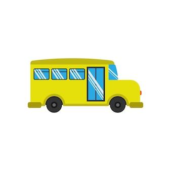Ilustração em vetor modelo de design de ícone de ônibus escolar