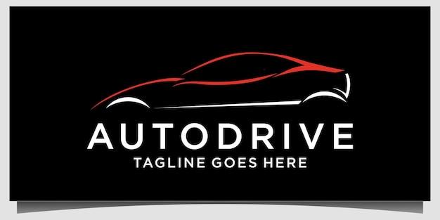 Ilustração em vetor modelo de logotipo automotivo de carro