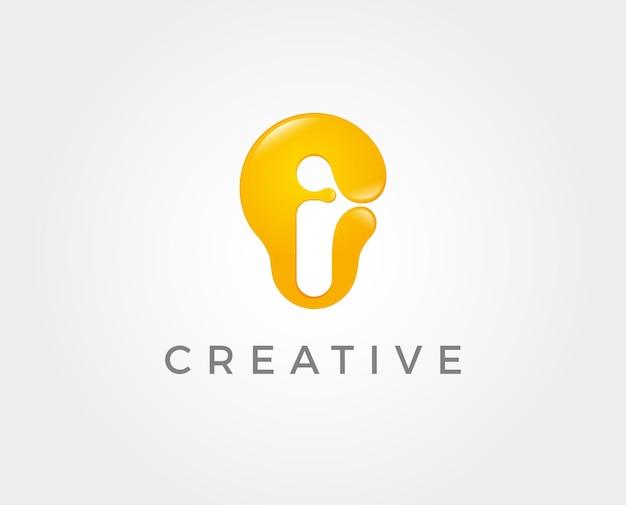 Ilustração em vetor modelo de logotipo de lâmpada de ideia mínima
