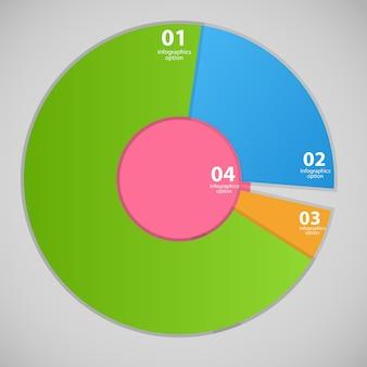 Ilustração em vetor modelo de negócios infográfico