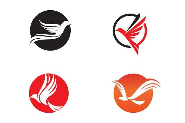 Ilustração em vetor modelo ícone de pomba de asa de pássaro