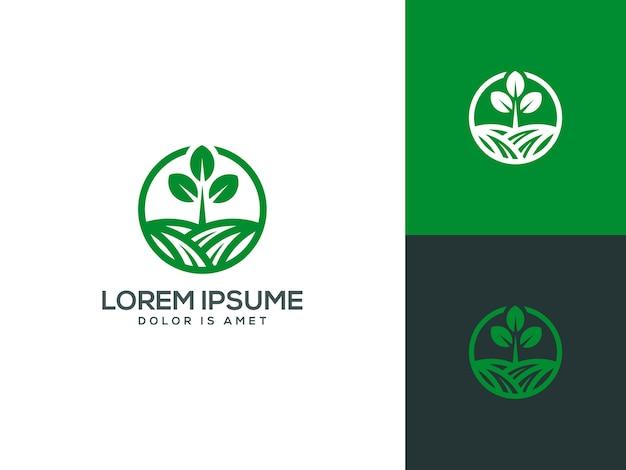 Ilustração em vetor modelo logotipo agricultura