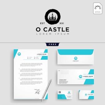 Ilustração em vetor modelo logotipo castelo