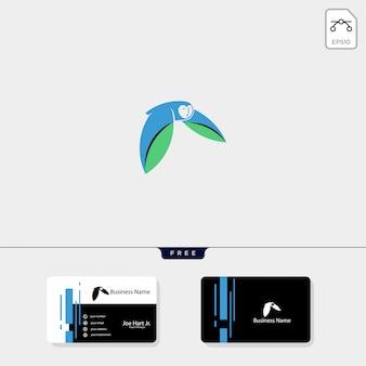Ilustração em vetor modelo logotipo coruja voadora