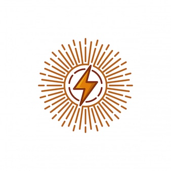 Ilustração em vetor modelo logotipo elétrico