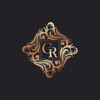 Ilustração em vetor modelo logotipo luxo