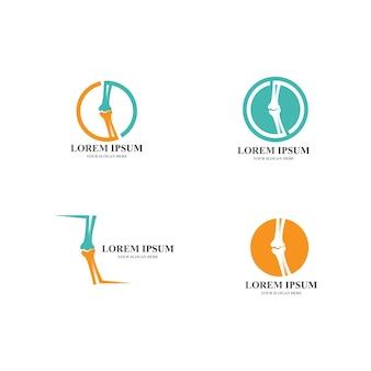 Ilustração em vetor modelo logotipo ósseo