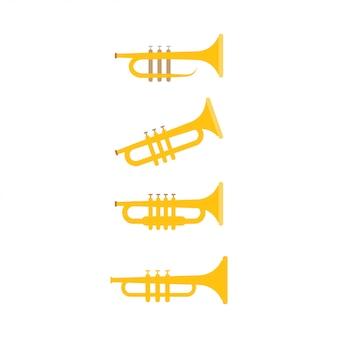 Ilustração em vetor modelo trompete design gráfico