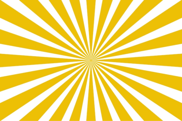 Ilustração em vetor moderno amarelo sunburst abstrato raios solares