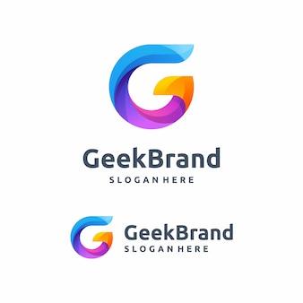 Ilustração em vetor moderno logotipo g conceito