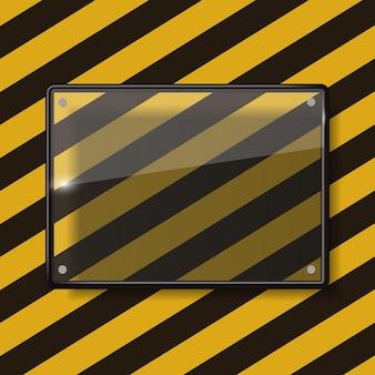 Ilustração em vetor moldura de transparência de vidro eps10