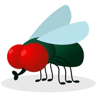 Ilustração em vetor mosca verde