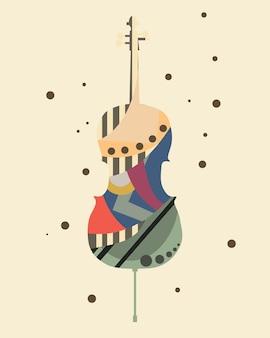 Ilustração em vetor música arte fundo