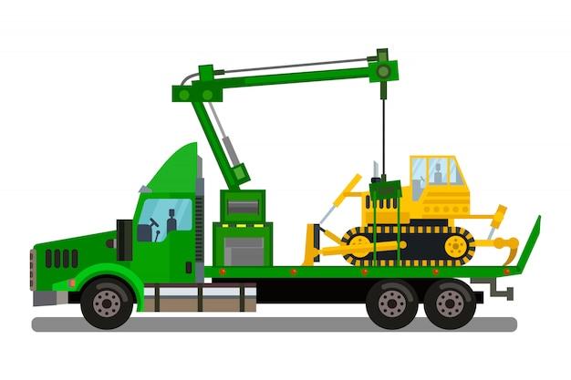 Ilustração em vetor negócios transporte carga