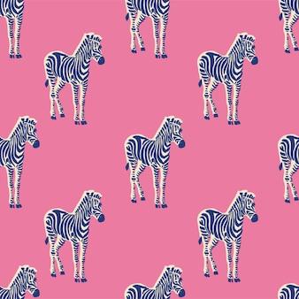 Ilustração em vetor néon retrô zebra ilustração motivo padrão de repetição perfeita arte de arquivo digital página inicial