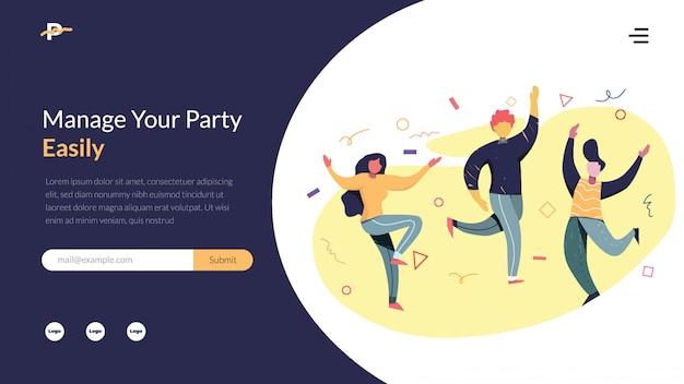 Ilustração em vetor organizador festa
