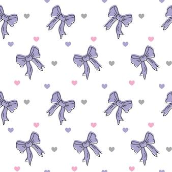 Ilustração em vetor padrão bonito arcos violetas