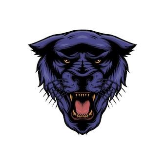 Ilustração em vetor panther head