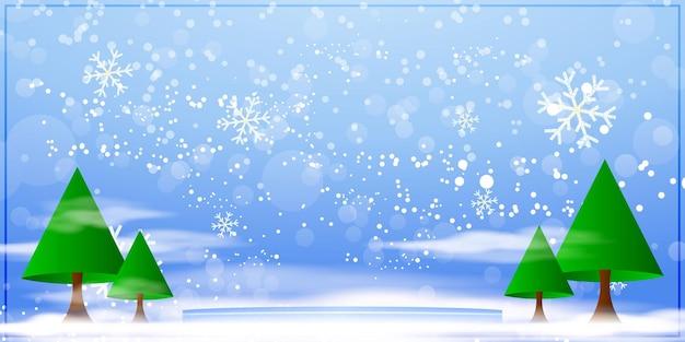Ilustração em vetor para o fundo hello winter