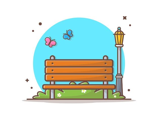 Ilustração em vetor parque ao ar livre