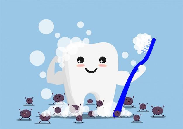 Ilustração em vetor personagem dental.