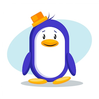 Ilustração em vetor pinguim bonitinho