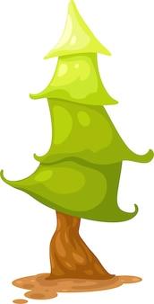 Ilustração em vetor pinheiro