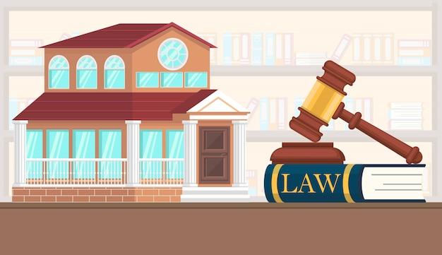 Ilustração em vetor plana avaliação de propriedade