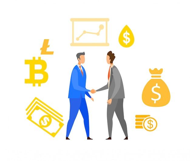 Ilustração em vetor plana de parceria de negócios