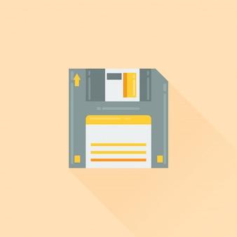 Ilustração em vetor plana disquete ícone flat design
