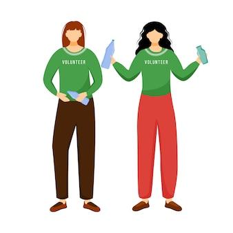 Ilustração em vetor plana gestão de resíduos.