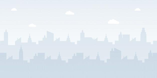 Ilustração em vetor plana paisagem urbana moderna