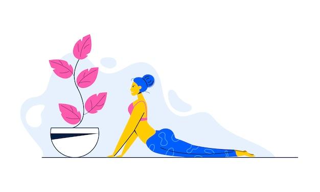 Ilustração em vetor plana pilates