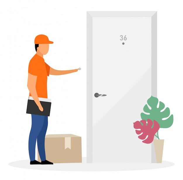 Ilustração em vetor plana serviço de entrega em domicílio.