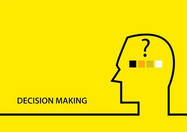 Ilustração em vetor plana simples do símbolo de tomada de decisão