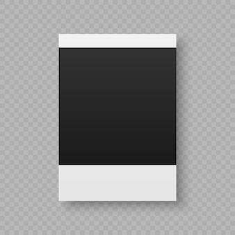 Ilustração em vetor preto e branco de quadro de foto polaroid