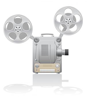 Ilustração em vetor projetor de cinema