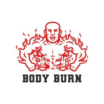 Ilustração em vetor queimando gordura corporal