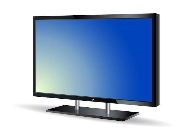 Ilustração em vetor realista monitor de computador 3d