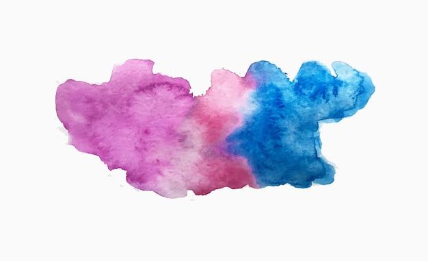 Ilustração em vetor respingo de aquarela abstrata gota de aquarela isolada no fundo branco