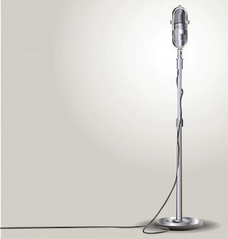 Ilustração em vetor retrô microfone