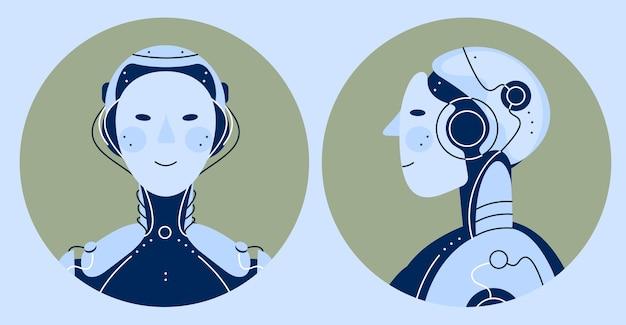 Ilustração em vetor robô chatbot