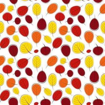 Ilustração em vetor sem costura padrão de folhas de outono