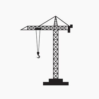 Ilustração em vetor símbolo isolado guindaste