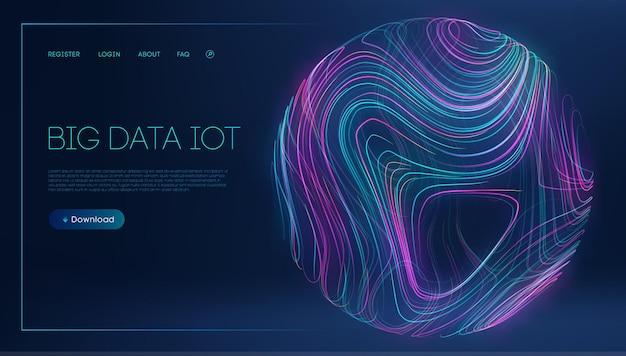 Ilustração em vetor tecnologia internet big data iot tecnologia abstrata de comunicação digital