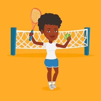 Ilustração em vetor tenista.