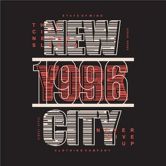 Ilustração em vetor tipografia listrada cidade de nova york para imprimir camiseta